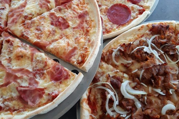 Marco Streetfood Pizza Salami, Pizza Kebab, Pizza Schinken
